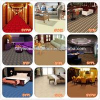 SYLF107 Hot Sale Commercial Blend Wool Star Hotel Carpet