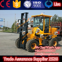 2 ton Wheel Loader Four Wheel Drive Rough Terrain Forklift with CE