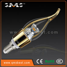 QMS Dimmable 4.5W led candle bulb chandelier light