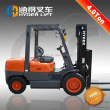 4t diesel engine forklift truck with wholesale tires 50 mm