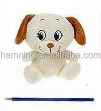 15cm sevimli peluş çiftlik hayvan tasarım köpek nakış