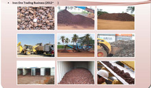 Iron ore in containers