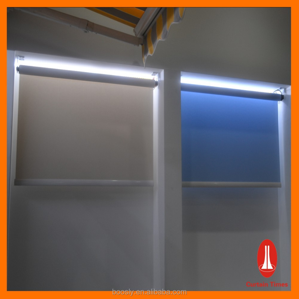 High end motorized roller blinds for hotels and villa for Motorized roller shades price