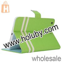 Cross Texture Magnetic Stand Flip Leather Case for For iPad Mini, Wallet Leather Case for iPad Mini 2 Retina