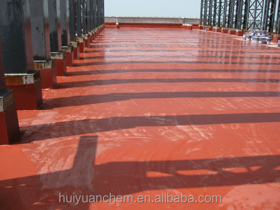 PU coating for roof waterproofing