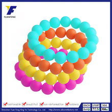 Wholesale Cheap 100% Food Grade Beads/ Colorful Silicone beads Bracelet