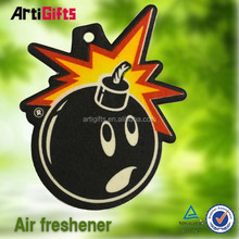 Free Artwork customized absorbent best price and newly car paper air freshener