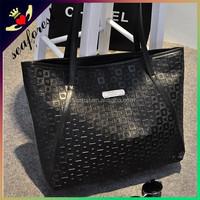 cheap large european fashion PU leather handbags