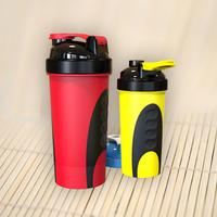 600ml custom protein shaker bottles oem private label with stainless blender spring