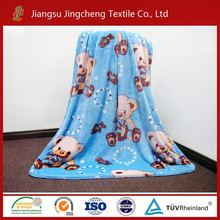 100% polyester flannel fleece baby blanket/swaddle blanket factory China