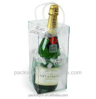 high quality protective clear plastic bottel wine bag