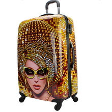 colorful abs luggage,hardshell luggage,abs+pc trolley luggage rainbow printing