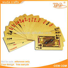 Caldo di nuovi prodotti per il 2015 24k 100 dollari scheggia carta da gioco, carta da gioco per il partito da gioco