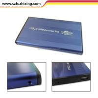 2.5'' inch USB2.0 to SATA Aluminum Hard Drive Disk External Externo Portable HD HDD Enclosure Case Caddy Box 750GB / FZX2501A