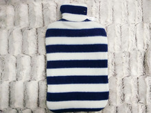 Standard Size Black and white stripes fleece Hot Water bags/Bottle Cover BS1970:2012