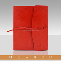 Huaben 2016 new pu leather cover spiral notebook