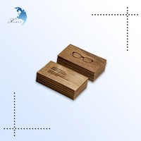 High quality custom design wooden name card/wooden business card printing