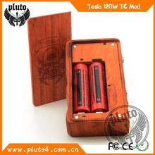 2015 Best Vapor Kit Dual 18650 E cig Box Mod Tesla120w Wooden Mod