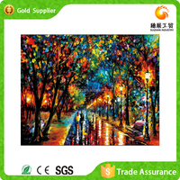 Customized attractive gift decorative abstract trees oil painting