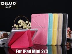 2015 Newest Transformer PU Leather TPU Case For iPad Mini 2/3