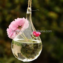 Crystal Glass Water Drop Shaped Air Plant Terrarium Globe Crystal Hydroponic Container for Home Decor Decoration Clear Crystal