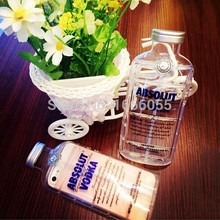 New Style Luxury absolute Vodka alcohol Wine Bottle Transparent Clear TPU Phone Case For Iphone 5 5s