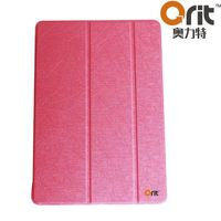 2015 popular flip case for ipad air 2 pu material velcro cover functional protective folder leather case