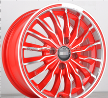 NEW design Alloy Wheel Rim, Red car rims wheel 14x6.0