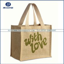for shopping jute bag wholesale factory made