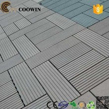 Gray Composite Square Patio Living Flooring Garden 11pcs Set Outdoor Deck Tiles