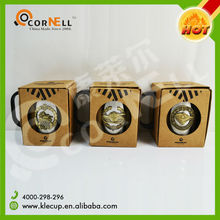 Tank LOGO Brand Supplier Double Wall Stainless Steel Coffee Mug with Window Box Packing