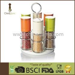 6 in 1 colorful glass aluminium cap granule size adjustable P/S mill set