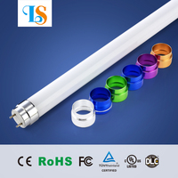 rotating colored t8 led tube light 1.5m 5ft 24w 25w 30w TUV/SAA listed led tube lighting for Australia and Germany