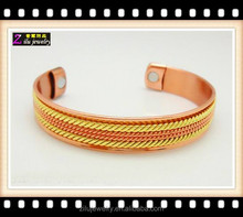 Wholesale 6 magnets Powerful Magnetic Copper Bracelet for Arthritis and Golf Sport Aches and Pains magnetic copper jewellery
