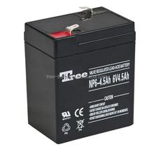 Tree rechargeable vrla good price sealed lead acid battery 6v 4ah agm battery solar battery 7ah 10ah 12ah etc
