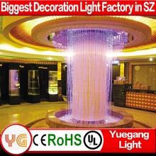 China fiber optic waterfall light curtain for fairy wedding waterfall light curtain