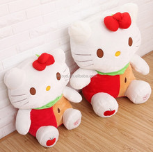 Cute apple cat large plush toy doll