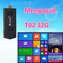 Mini PC with wifi dual os windows8.18 and ubuntu quad core mini pc eMMC 32GB/64G Meegopad T02 good price Mini PC