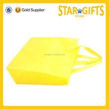 New style resuable bright yellow non woven shopping bag
