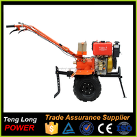 Small Diesel Power Rotary Tiller With Gearbox For Agricultral Use