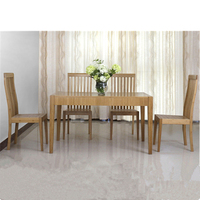 Natural bamboo dining room set table and chair
