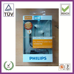 Plastic,PET,PP,PVC Material and Accept Custom Order headphone packaging