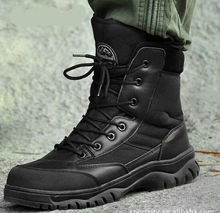 Best price high quality outdoor military desert boots combat tactical men's boots genuine leather boots JX0906-5