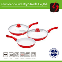 Non-stick aluminum white ceramic cookware