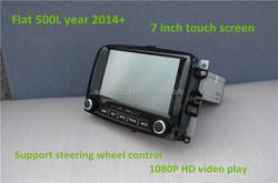 Fiat 500L car gps player 7 inch touch screen AM/FM radio/bluetooth/TV/steering wheel control blue & me mp3/mp4 ipod/sd/usb slot