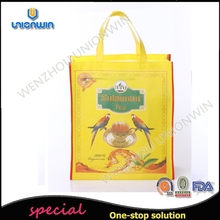 luxury tea yellow design fabric handle non woven bag with competitive price