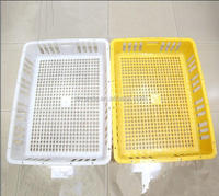 2015 Yellow Plastic Crates, Chicken Transport Baskets, Cages for chicken