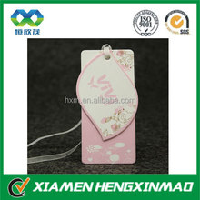 2014 Newest style elegant unique clothing hang tag design, bag hang tags