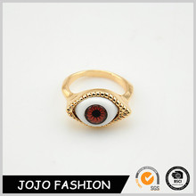 Wholesale Simple Fashion Jewelry Gold Anti Silver Opal Red White Evil Eye Ring