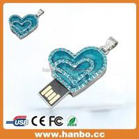 heart shape diamond usb flash drive